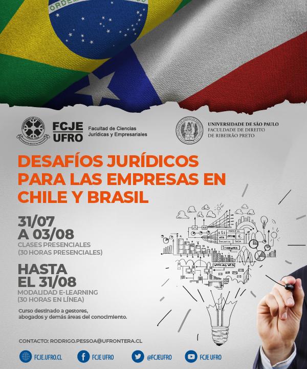 Curso Corto Internacional: Desafíos jurídicos para las empresas en Chile y Brasil