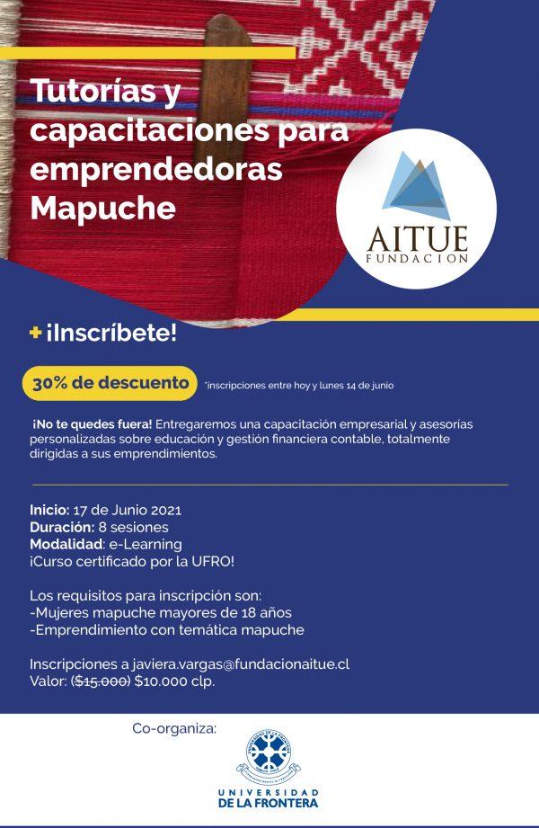 Curso de Tutorías y Capacitaciones para Emprendedoras Mapuche